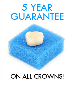 5 Year Guarantee on all Kreativ Dental's Crown and Bridge work